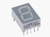 SA52-11SRWA 7-segment display rød 29mcd
