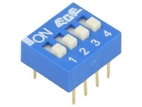 EDG104S DIP SWITCH 4-POL (8 BEN) Blå